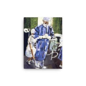 Contemplation Before Surgery Canvas Art Print