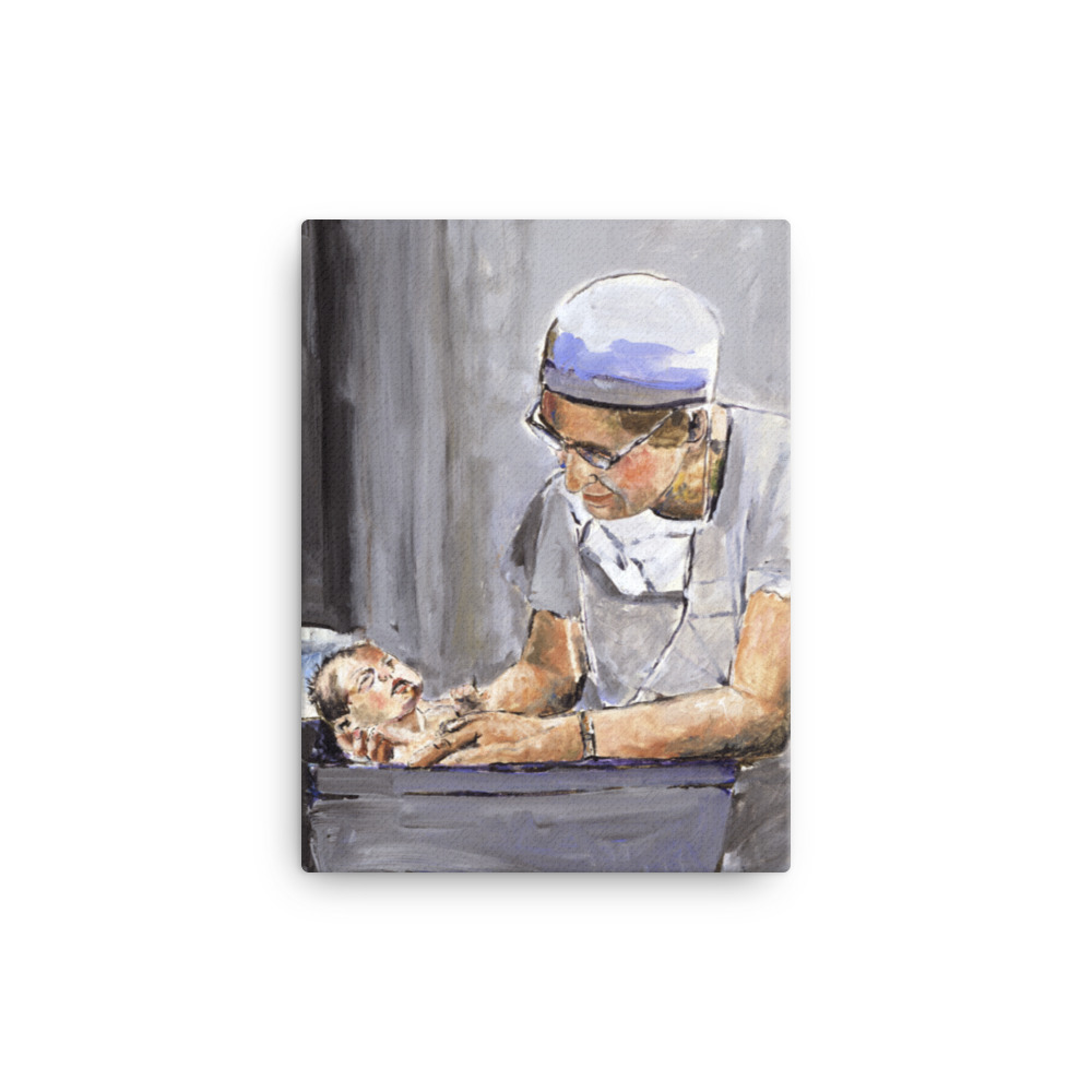 OB GYN With New Birth Canvas Wall Art