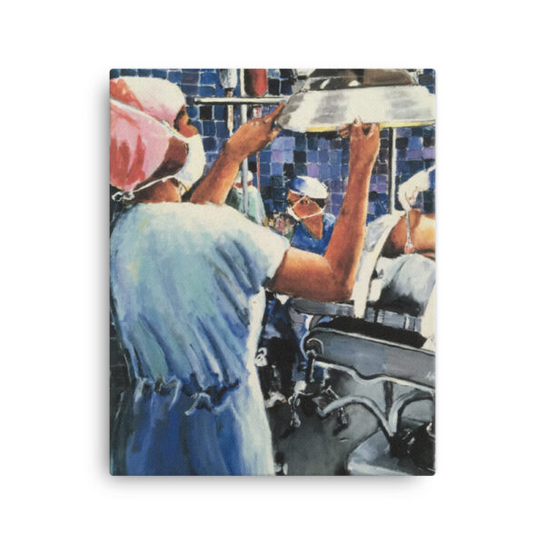 Nurse in Operating Room During Surgery Canvas Art Print