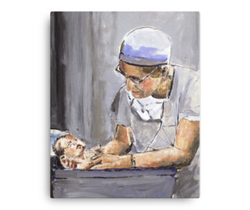 OB GYN After Delivery With New Birth