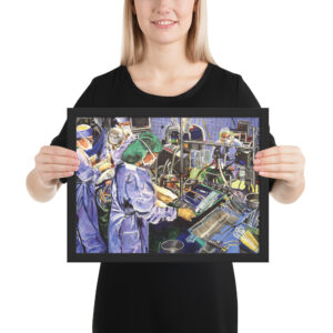 OR Nurse in Operating Room Surgery Framed poster