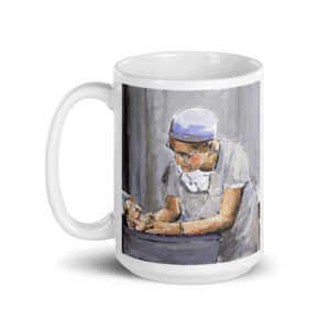 OB GYN After Delivery Caring For New Birth - Original Art Coffee Mug