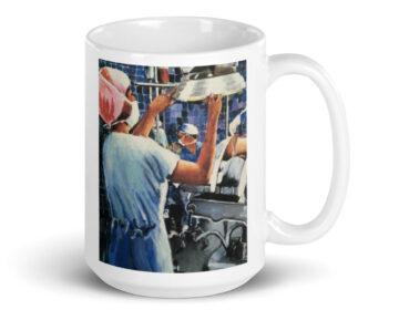 Nurse in Operating Room During Surgery Coffee Mug