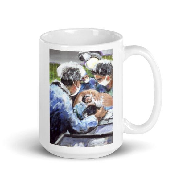 A New Birth, Mother and OB GYN Art Coffee Mug