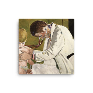 Pediatrician Thank You Gift Canvas Wall Art Appreciation Gift For Pediatrician Art Pediatrician Examining Patient