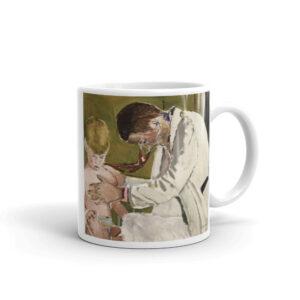 Pediatrician Examining Patient Artwork - Coffee Mug Gift For Pediatrician