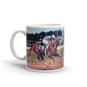 Horse Racing Art Jockey Riding Thoroughbred Racing Horse Coffee Mug Gifts For Horse Racing Fans