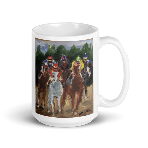 Horse Racing Thoroughbred Horse Jockey Art Horse Racing Coffee Mug Gift Horse Racing coffee mug
